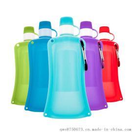 便捷可折叠旅行水袋折叠水袋硅胶运动饮水袋