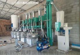 5组圆筛石磨面粉加工设备 石磨面粉加工设备厂家