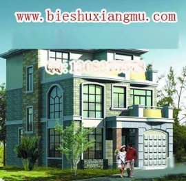 洋气三层带车库豪华别墅设计建筑施工图及效果图