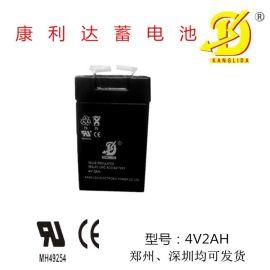 应急灯专用蓄电池用康利达品牌4V2AH的蓄电池 厂家薄利多销 免维护电池