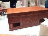 魯創紅木 非洲花梨木傢俱 實木古典傢俱 刺蝟紫檀傢俱  1.8m花鳥辦公桌