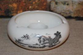 华晨陶瓷烟灰缸厂家批发精品陶瓷烟灰缸LOGO定制