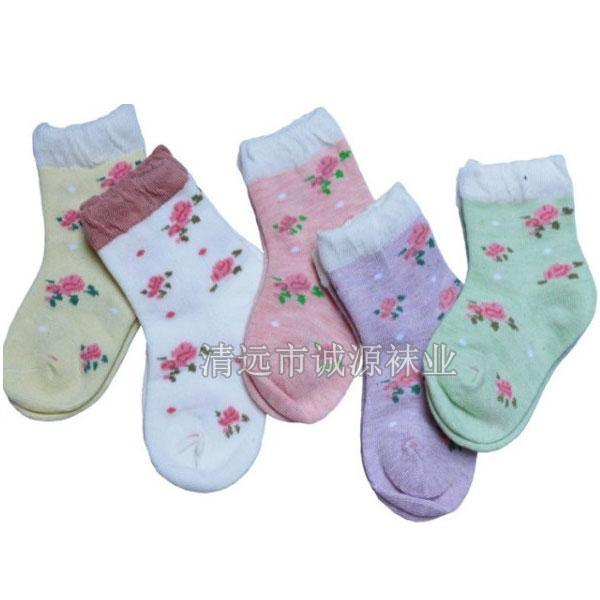 广东袜子加工厂纯棉儿童袜 夏季童袜