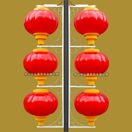 LED灯笼、LED亚克力塑料灯笼、LED喜庆节日户外防水灯笼、弘腾照明广告印字大红灯笼