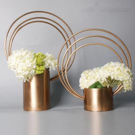 创意时尚摆件家居装饰品干花花器花瓶花艺间烂漫烛台新房装修饰品