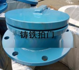 污水处理DN1000铸铁拍门连接安装