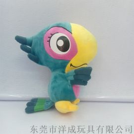 创意可爱小鹦鹉毛绒玩具 公仔玩偶定制