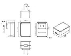 廠家直銷12V1A美規電源適配器,加溼器專用