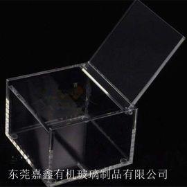 亚克力透明收纳盒正方形带盖家居用品防尘盒定制