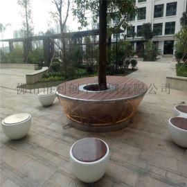 酒店装饰花盆摆件供应园林组合大花盆