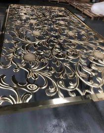 仿古木纹铝合金焊接屏风隔断,铝雕屏风