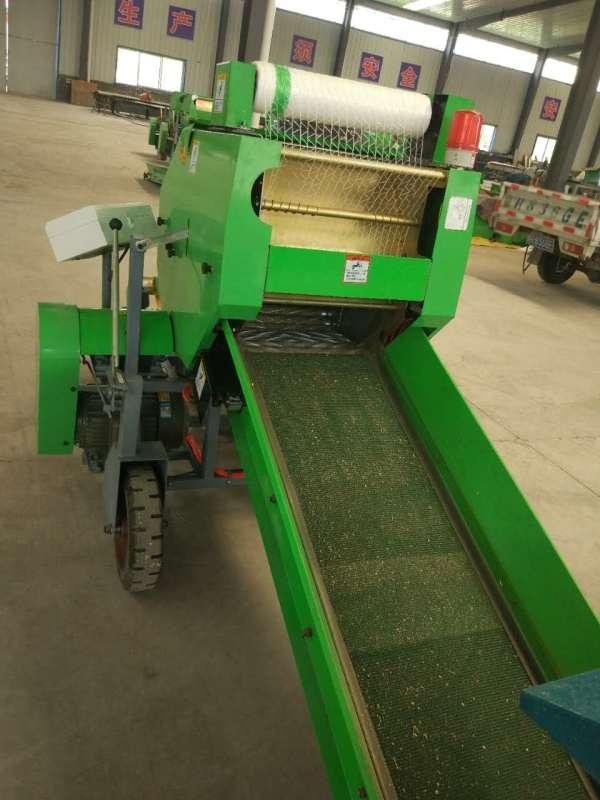 玉米秸秆打捆包膜机,自走式秸秆青贮打捆机
