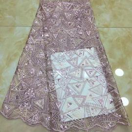 热销三角形图蕾丝亮片绣花布匹