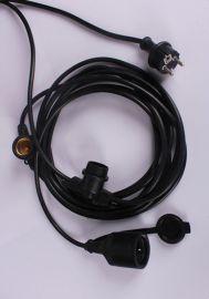 E14注塑一体PVC材料灯座 木灯座自锁光身 半牙 全牙灯头灯座