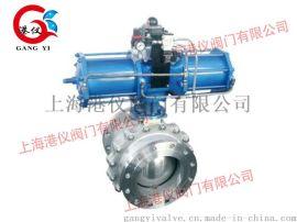 上海港仪阀门-GYQ647F-16C-气动固定式球阀