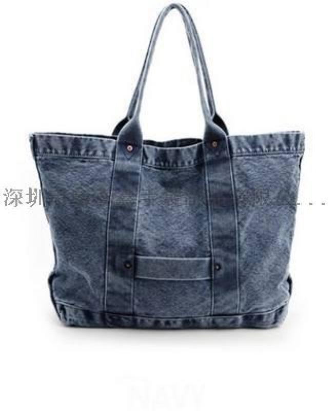 新款时尚布料女士手提包