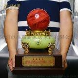 天然紅色水晶球擺件轉運球風水球水晶球擺件