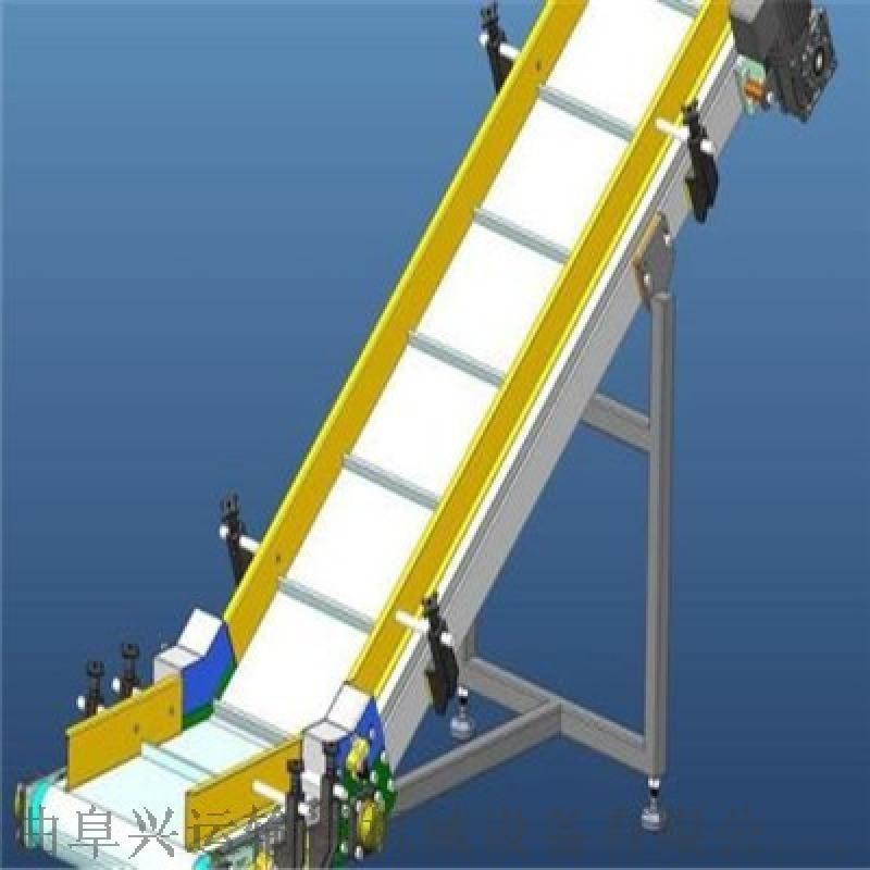轻型皮带输送机结构简单皮带输送机 袋装饲料搬运输送设备价格y2