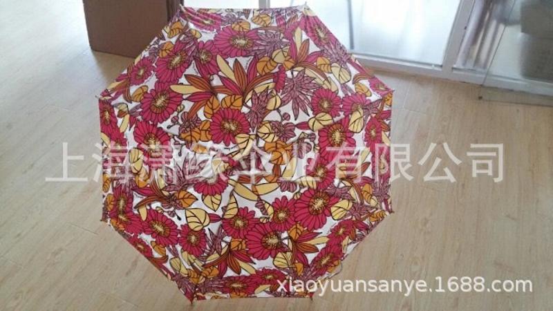 定制数码印花伞、热转印花晴雨直杆伞 logo丝印雨伞定制