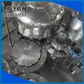 全自动冲洗、灌装、封口三合一灌装机械 液体灌装
