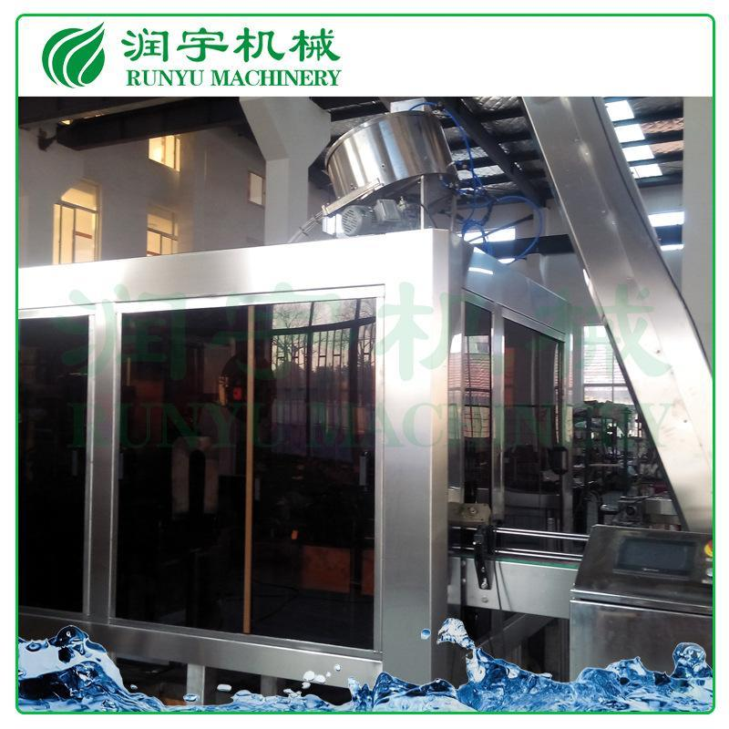 润宇机械塑料瓶铝膜灌装机, 牛奶玻璃瓶热灌装生产线