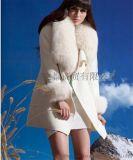 毛呢外套|狐狸毛领毛呢外套|女装毛呢外套批发