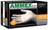 AMMEX愛馬斯一次性乳膠手套無粉手套TLFC