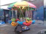 儿童旋转秋千鱼电动旋转飞鱼游乐设备12座电动椰子树千秋鱼小飞鱼