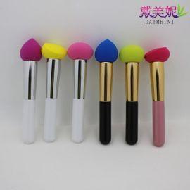批发供应非乳胶粉扑刷 亲水   遇水变大化妆刷 中号多色可选