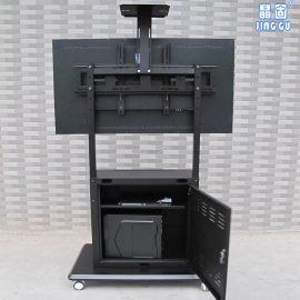 晶固单/双屏液晶电视移动推车支架