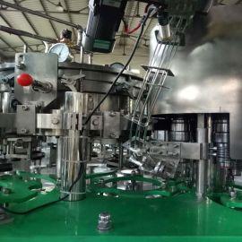 果汁啤酒饮料自动灌装机饮料生产线 全自动液体三合一灌装机