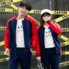 秋冬男 女学生韩版開衫外套情侣卫衣运动套装班服情侣装定制LOGO