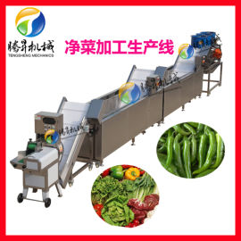 全自动果蔬切割清洗风干生产线设备