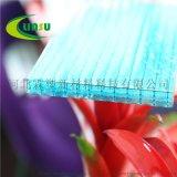 西寧pc陽光板廠家 全新料四層透明中空陽光板