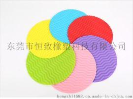 供应硅胶隔热锅垫 硅胶圆形波浪餐垫 多功能隔热垫