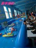 新款手推脚踩方向盘遥控船 儿童游乐项目 厂家直供