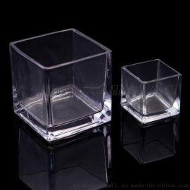 玻璃厂家 定做 玻璃方缸 四方玻璃杯 玻璃罐 玻璃瓶
