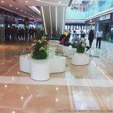 厂家直销商场休闲椅 玻璃钢波浪造型坐凳 3米长条凳