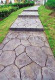 潍坊高新区 塑胶地板工程承包 艺术压花地坪施工队  混凝土压模地坪价格