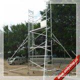 批发8米平台铝合金脚手架 单宽斜梯铝架 安全稳固移动装修架