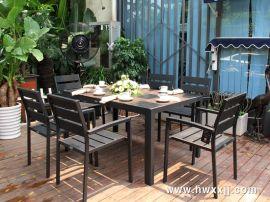 深圳户外家具厂家直销 塑木桌椅 休闲桌椅 庭院花园桌椅 酒店餐饮外摆桌椅
