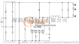 芯联CL1503 24W非隔离LED电源方案