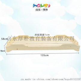【幼儿园榫卯重叠床】山东厚朴 幼儿园实木午睡床 儿童重叠床