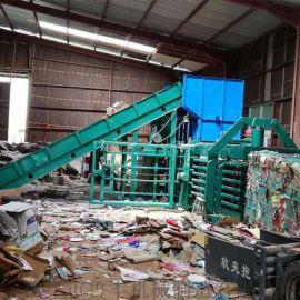 义务服装碎布压缩废纸板卧式液压打包机生产商