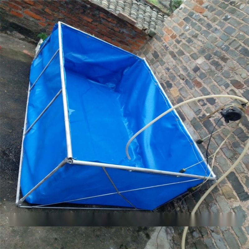 帆布水池生产厂家_帆布水箱图片_水蛭养殖池材质
