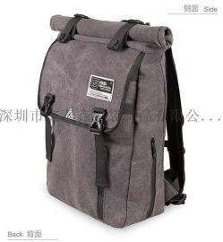 棉布帆布双肩休闲旅行背包