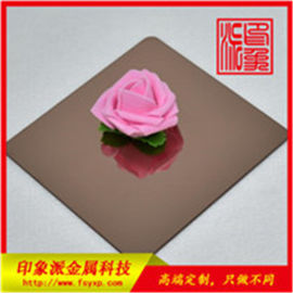 佛山304镜面玫瑰金酒店装饰不锈钢装饰板