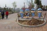 公園站崗紅衛玻璃鋼士兵卡通公仔樹脂紅軍八路軍雕塑像