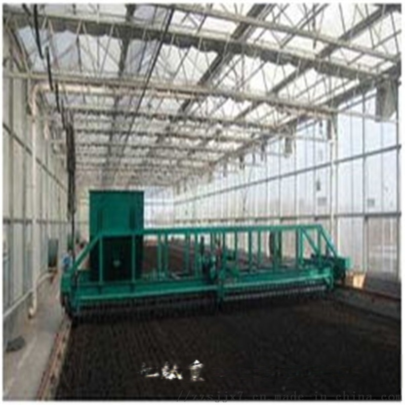 发酵床翻耙机有机肥设备 6米槽式翻堆机 价格适用范围图纸