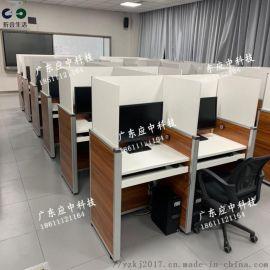 校用考试电脑桌 防作弊考试专用桌 屏风升降电脑桌